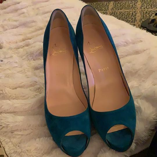 Christian Louboutin Very Prive 120 beautiful blue turquoise Pumps Image 3
