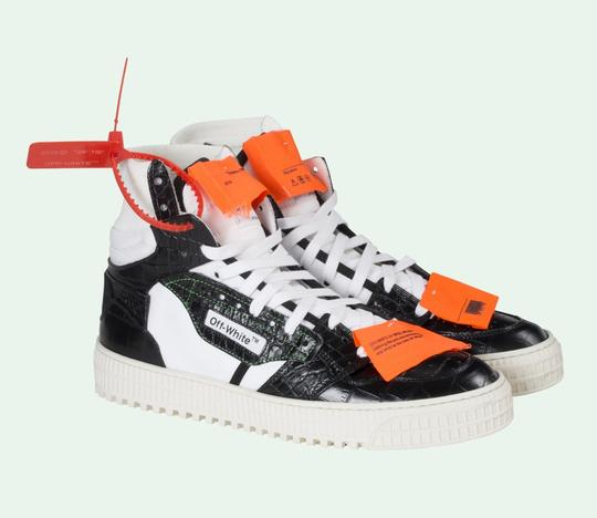 Off-White Crocodile White Sneakers Orange Yeezy Sock black Athletic Image 1