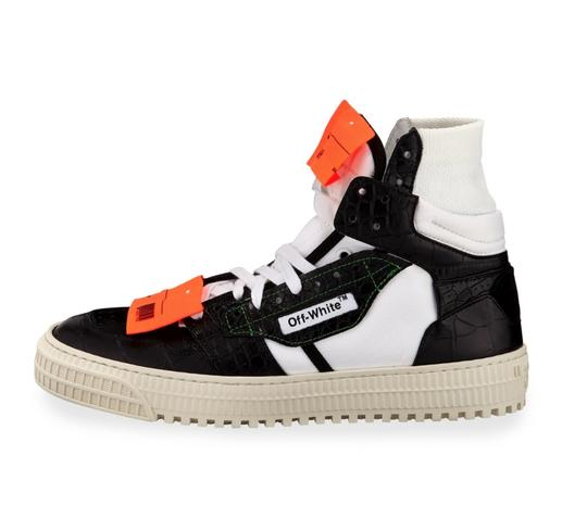 Off-White Crocodile White Sneakers Orange Yeezy Sock black Athletic Image 3