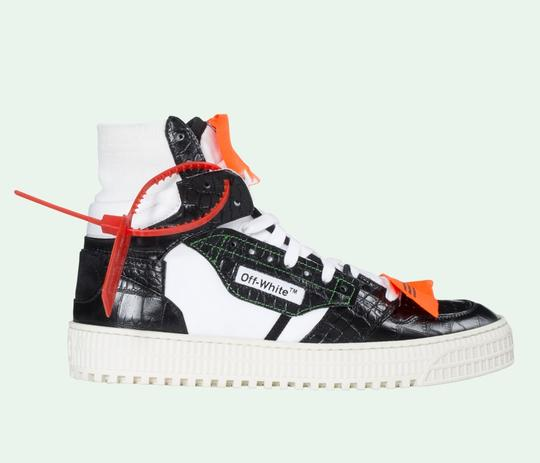 Off-White Crocodile White Sneakers Orange Yeezy Sock black Athletic Image 4