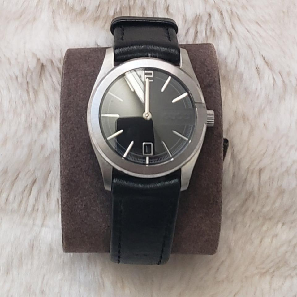 298db5f4fbc Gucci Black Vintage Leather Watch - Tradesy