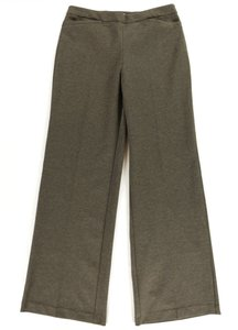 New York & Company Pockets Stretchy Wide Leg Pants Brown