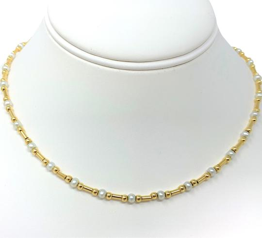 Preload https://img-static.tradesy.com/item/24634033/14k-yellow-gold-ball-bead-and-pearl-station-italy-16-inches-necklace-0-1-540-540.jpg