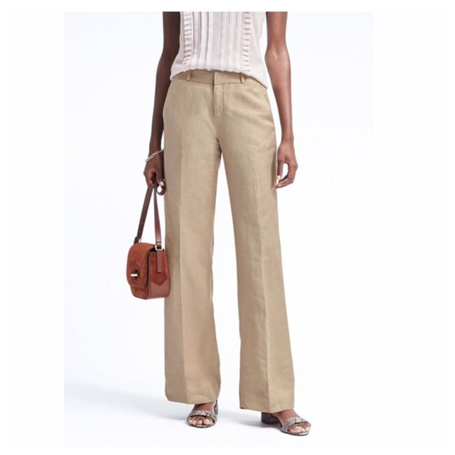 Item - Beige Linen Blend Casual Career Summer Trousers New with Tags Pants Size 6 (S, 28)