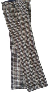 David Meister Wool Fully Lined Superb Fit Made In Korea Trouser Pants plaid