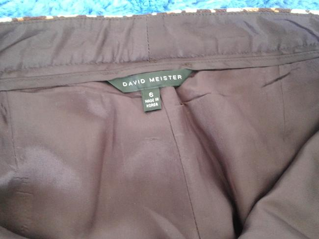David Meister Wool Fully Lined Superb Fit Made In Korea Trouser Pants plaid Image 3