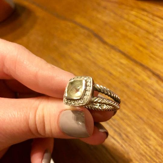 David Yurman Albion Ring with Prasiolite and Diamonds Image 2