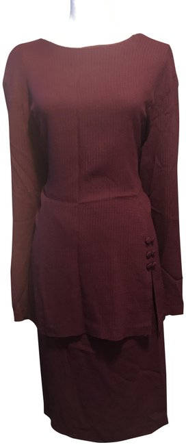 Preload https://img-static.tradesy.com/item/24634178/cb-casual-burgundy-skirt-and-blouse-mid-length-workoffice-dress-size-22-plus-2x-0-1-650-650.jpg