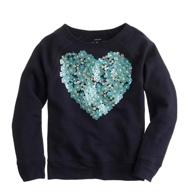 Preload https://img-static.tradesy.com/item/24634219/navy-blue-girls-floral-heart-sequin-kids-new-14-sweatshirthoodie-size-00-xxs-0-0-650-650.jpg