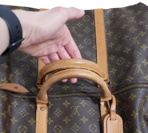 Louis Vuitton Keepall Bandouliere Monogram Large Brown Travel Bag