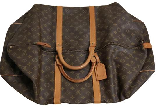 Louis Vuitton Keepall Bandouliere Monogram Large Brown Travel Bag Image 1