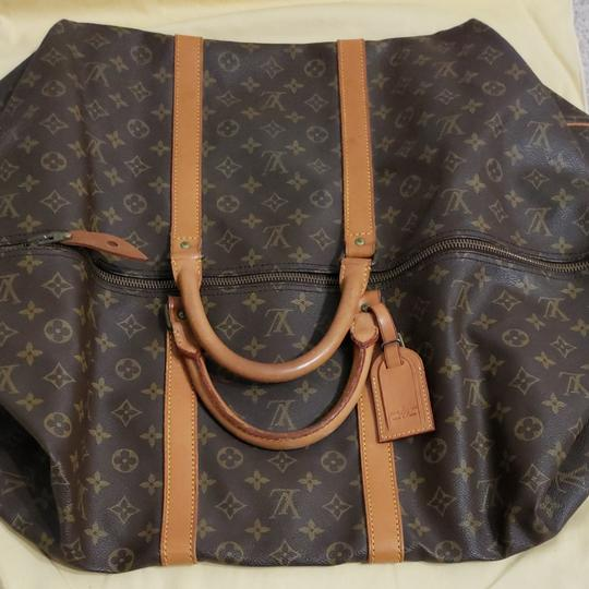 Louis Vuitton Keepall Bandouliere Monogram Large Brown Travel Bag Image 2