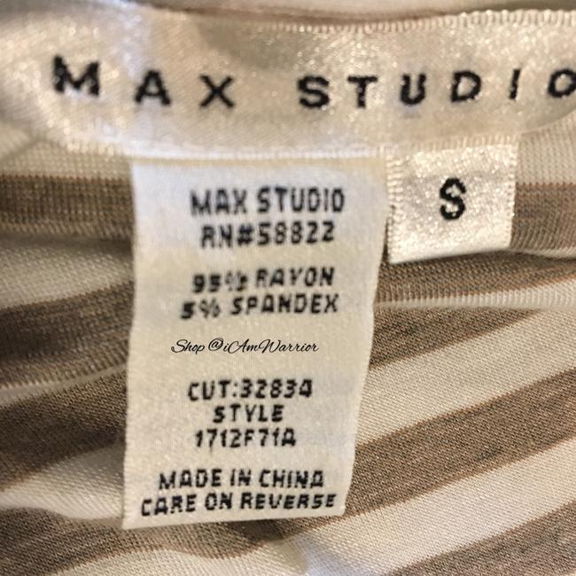 Max Studio Top Tan, off white Image 4
