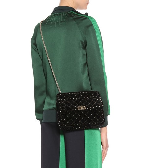 Valentino Velvet Studded Shoulder Bag Image 1