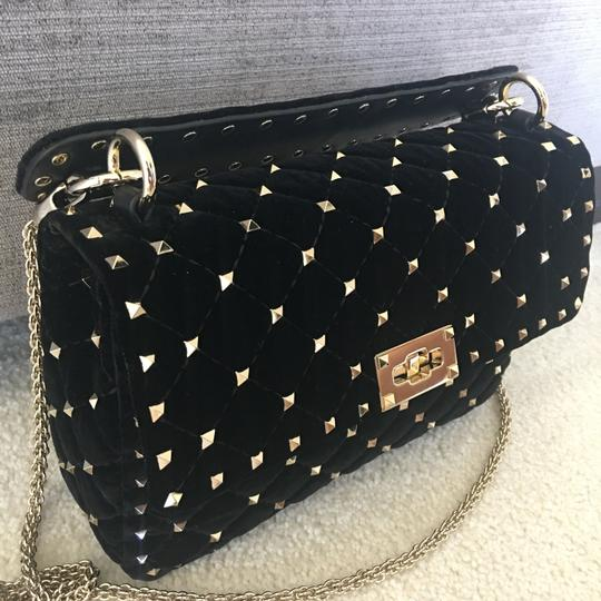 Valentino Velvet Studded Shoulder Bag Image 2