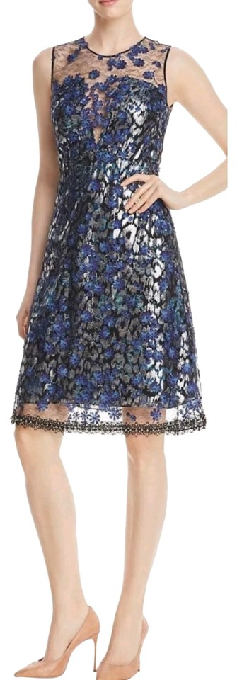 dab7b125cedf Elie Tahari Night Out Date Night Floral Embellished Embroidered Dress Image  0 ...