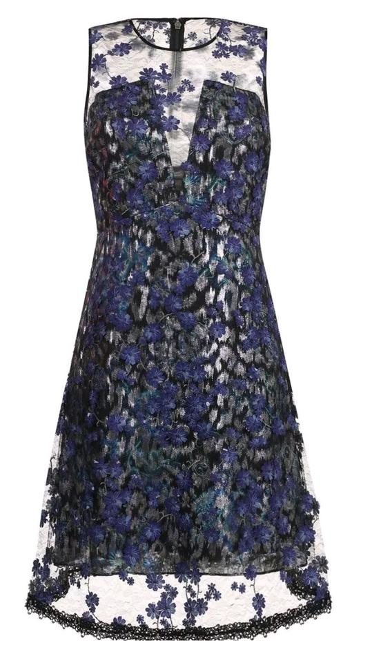 072e7430cb16 Elie Tahari Night Out Date Night Floral Embellished Embroidered Dress Image  11. 123456789101112