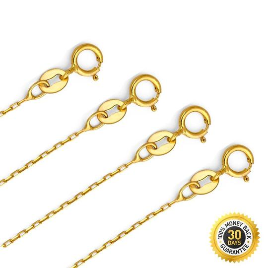 TGDJ Yellow 14k Star Pendant 0.9mm Cable Chain 16'' Necklace Image 2
