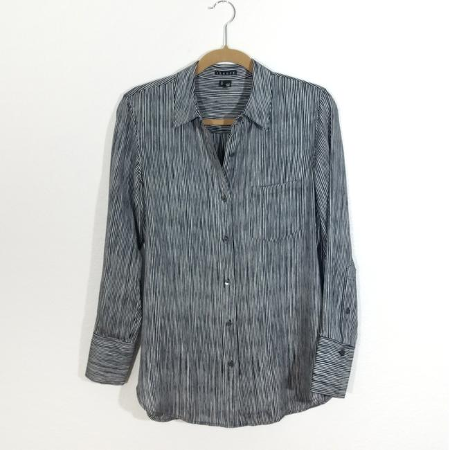 Theory Button Down Shirt Black and White Image 1