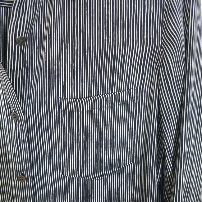 Theory Button Down Shirt Black and White Image 3