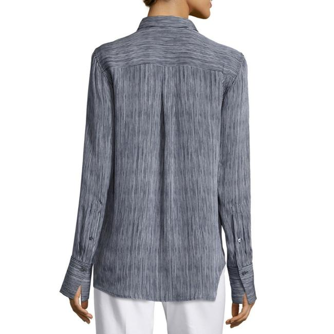 Theory Button Down Shirt Black and White Image 6