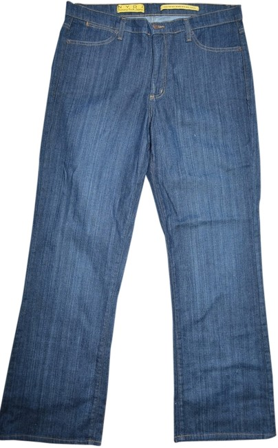 Item - Blue Model Tummy Tuck Made In Usa Flare Leg Jeans Size 36 (14, L)