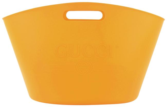 Item - Logo Rubber Large Yellow Leather Tote