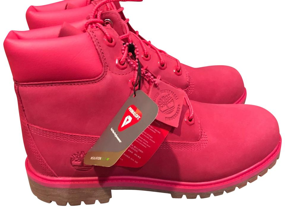quality first buy sale fast delivery Timberland Rose Red 6 Inch Premium Boots/Booties Size US 8 Regular (M, B)  55% off retail