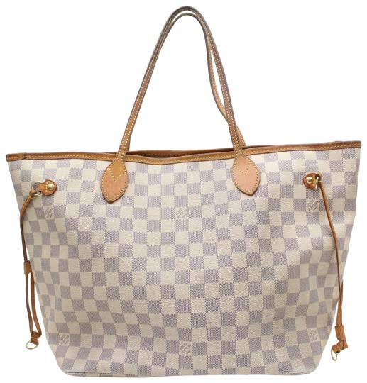 Preload https://img-static.tradesy.com/item/24634631/louis-vuitton-neverfull-damier-azur-mm-medium-shopper-869600-white-coated-canvas-tote-0-1-540-540.jpg