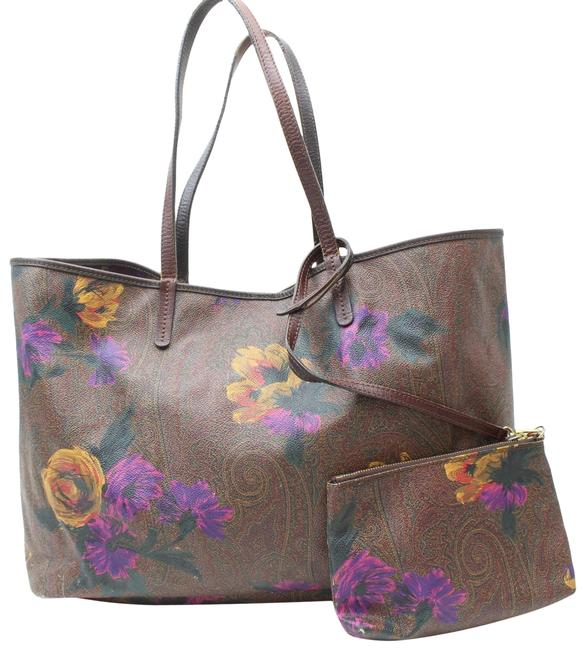 Item - Bordeaux Floral Paisley Tote with Pouch 869601 Burgundy Coated Shoulder Bag