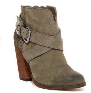 Betsey Johnson Taupe Oil Suede Boots