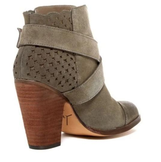 Betsey Johnson Taupe Oil Suede Boots Image 1