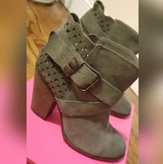 Betsey Johnson Taupe Oil Suede Boots Image 2