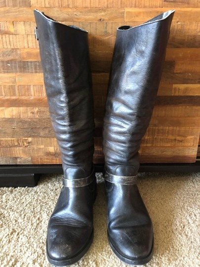 Golden Goose Deluxe Brand Leather Distressed Limited Edition Black Boots Image 2