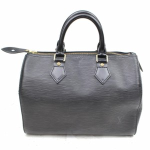 Louis Vuitton Empreinte Speedy Damier Speedy Ebene Speedy Damier Graphite Leather Speedy Satchel in Black