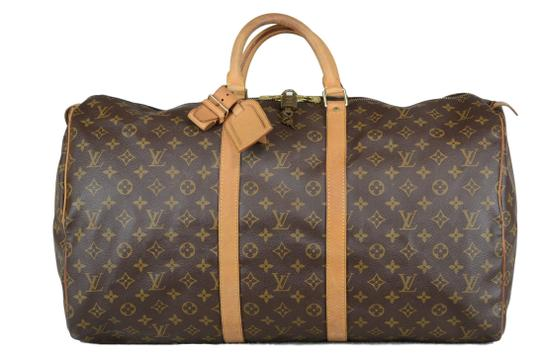 Louis Vuitton Keepall Monogram Tote in Brown Image 0