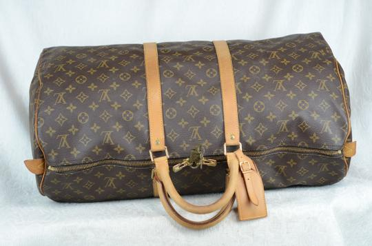 Louis Vuitton Keepall Monogram Tote in Brown Image 11