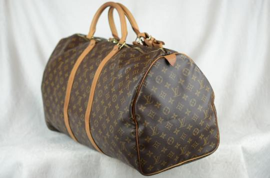 Louis Vuitton Keepall Monogram Tote in Brown Image 3