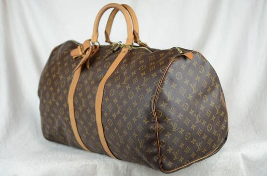 Louis Vuitton Keepall Monogram Tote in Brown Image 4