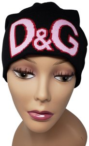 Dolce&Gabbana Black wool Dolce and Gabana Princess D&G pom pom beanie