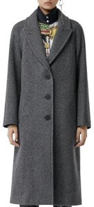 Burberry Wool Vintage Check Trench Coat