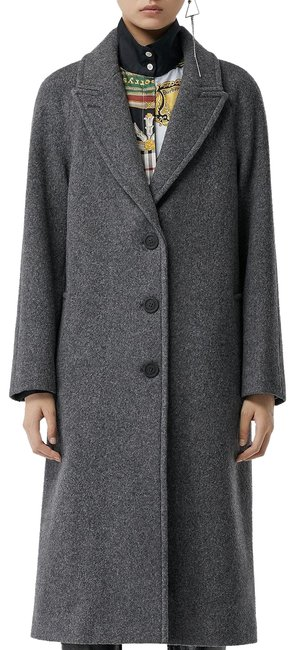 Preload https://img-static.tradesy.com/item/24634852/burberry-mid-grey-melange-wool-blend-tailored-coat-size-8-m-0-5-650-650.jpg