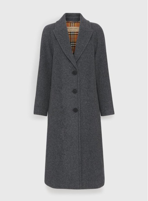 Burberry Wool Vintage Check Trench Coat Image 1