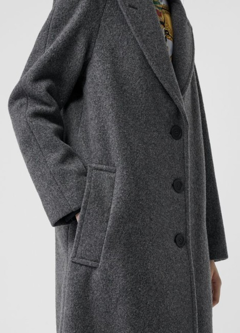 Burberry Wool Vintage Check Trench Coat Image 4
