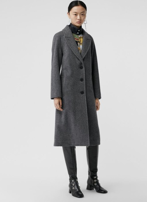 Burberry Wool Vintage Check Trench Coat Image 5