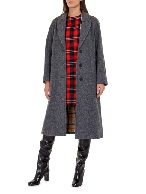Burberry Wool Vintage Check Trench Coat Image 7