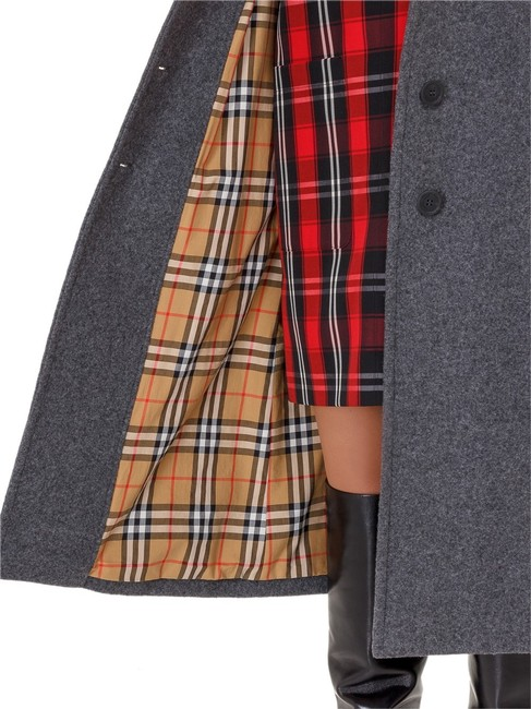 Burberry Wool Vintage Check Trench Coat Image 8