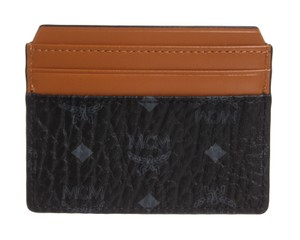 MCM MCM Cognac Black Visetos Claus Card Holder Case