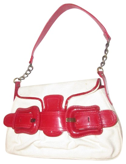 Preload https://img-static.tradesy.com/item/24634914/fendi-b-buckle-purses-ivory-canvas-and-red-patent-leather-shoulder-bag-0-1-540-540.jpg