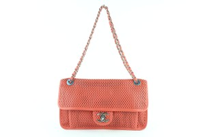Chanel Perforated Classic Caviar Jumbo Medium Shoulder Bag